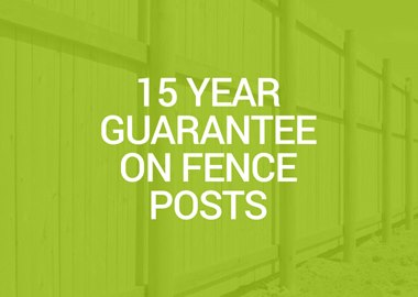 15 year guarantee on fence posts