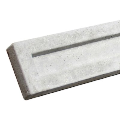 150mm  x 1830mm x 50mm Recessed concrete gravel board