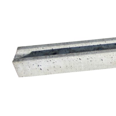 2100mm Slotted intermediate concrete post (Pyramid top)