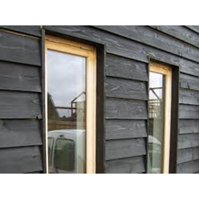 175mm wide black painted barn lap (feather edge)