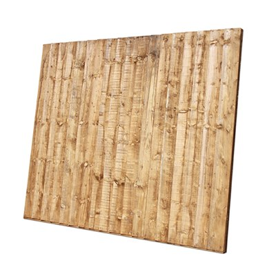 1830mm (W) x 1500mm (H) Close board fence panels. Brown treated.