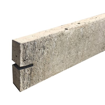 150mm  x 2885mm x 50mm Concrete gravel board (Morticed posts)