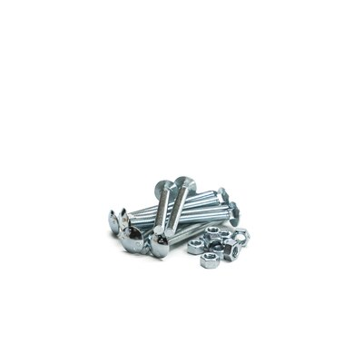 M10 x 100 Cup Square Carriage Bolt & Hexagon Nut (box of 25)