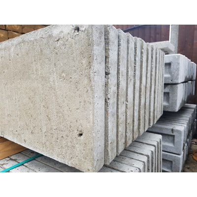 150mm x 1830mm recessed concrete gravel board