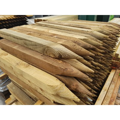 50 x 50 x 0.6m pressure treated landscape pegs