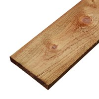 BR2215030 22mm x 150mm x 3000mm Softwood gravel board. Brown pressure treated.