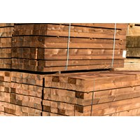 BS12525024 125 x 250 x 2.4m pressure treated brown softwood sleeper