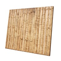 CBFB65BR 1830mm (W) x 1500mm (H) Close board fence panels. Brown treated.